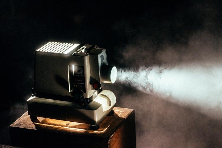 cine película proyector