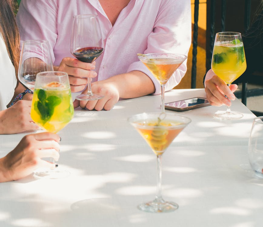 cocktails mesa copas