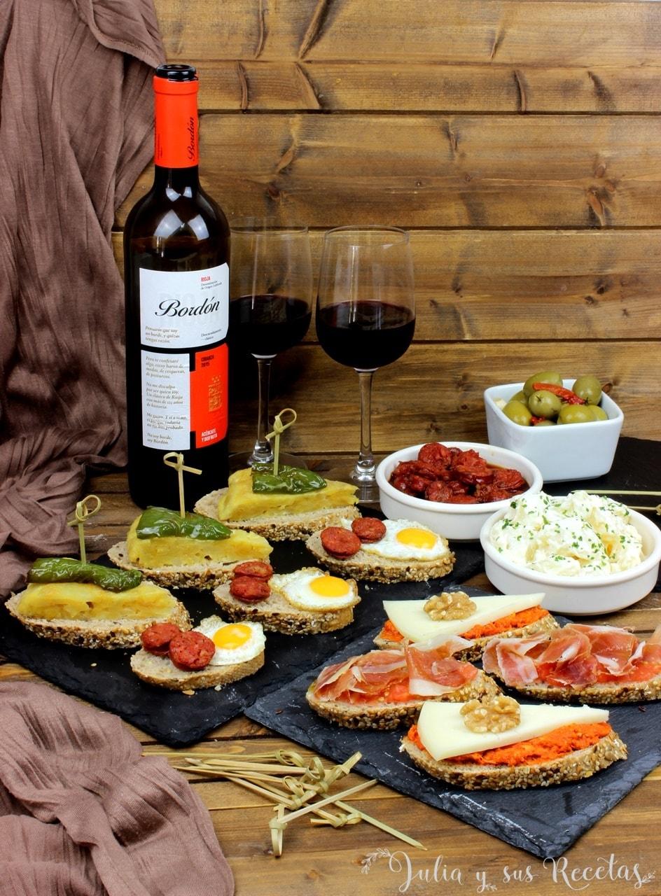 maridaje vino tapas