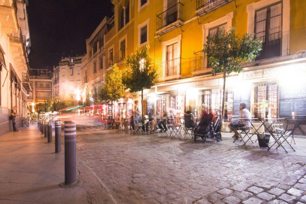 mesas calle terraza