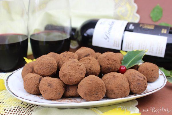 trufas al vino
