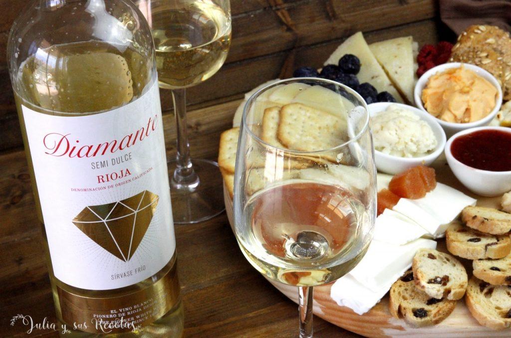 vino blanco quesos